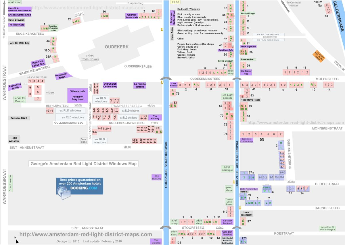 Amsterdam red light district interactive map by George