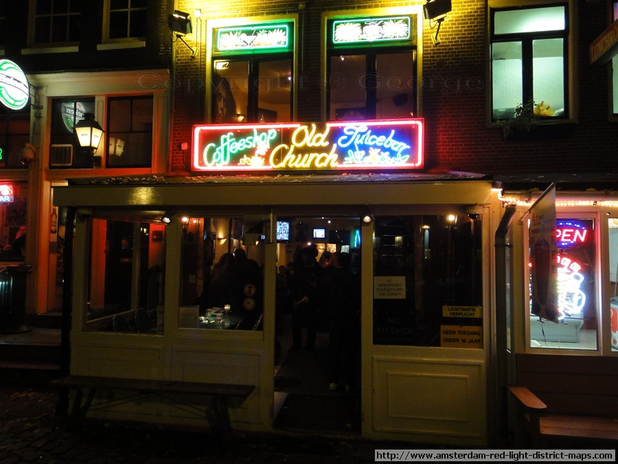 Amsterdam 39 S Red Light District Old Church Coffeeshop