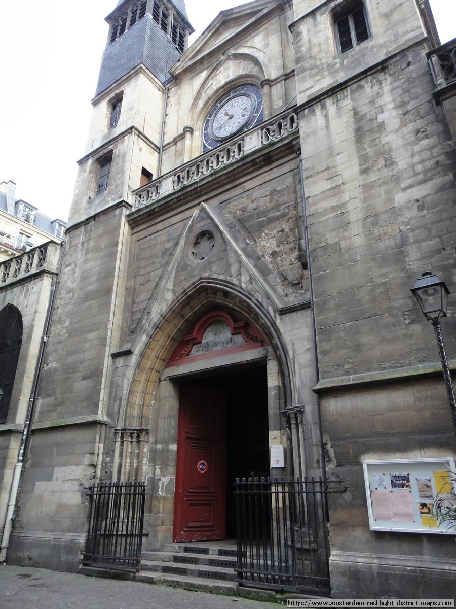 Paris Red Light District Rue Saint Denis Quartier Rouge