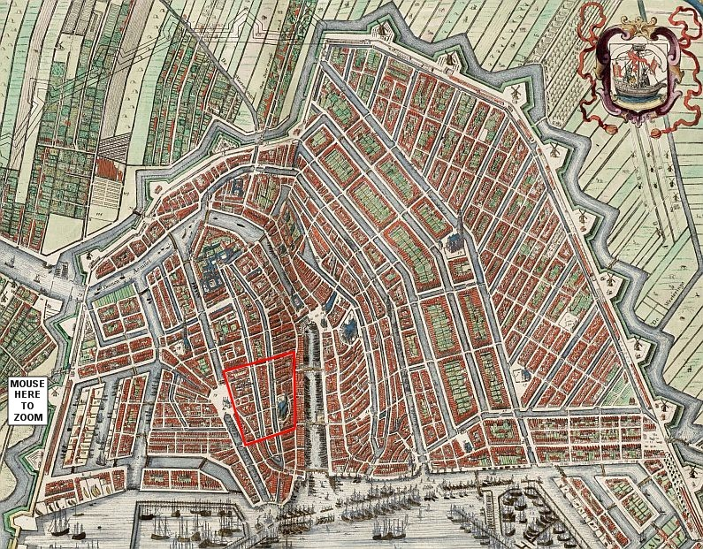 History Of Amsterdams Red Light District - Amsterdam old map