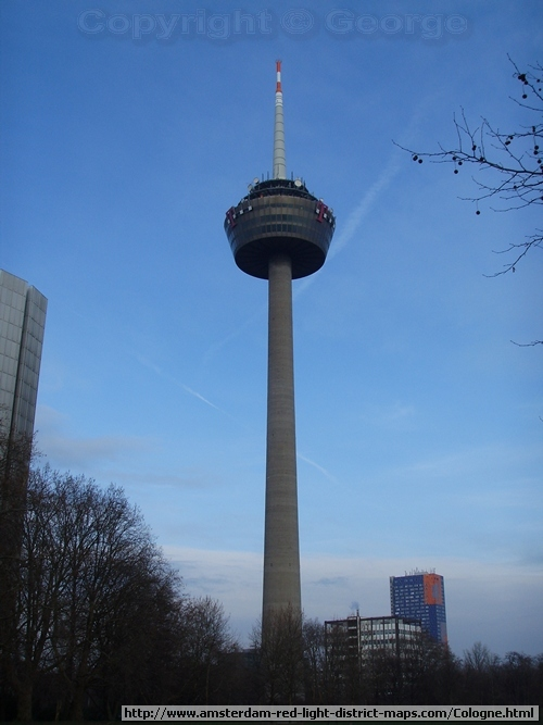 Colonius is a 266m telecommunications tower and Cologne's tallest structure, Germany (Köln Deutschland)