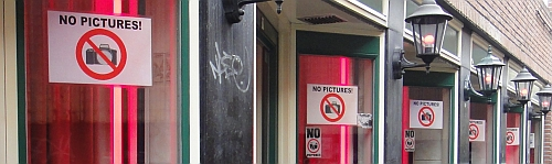 No Pictures in Amsterdam's Red Light District